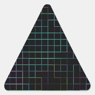 Cuadrados reconstruidos calcomania de triangulo