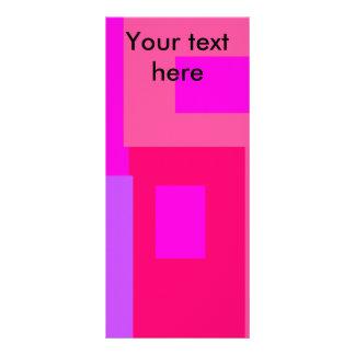 Cuadrados rosados y violetas contemporáneos tarjetas publicitarias