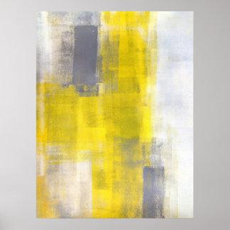 """""""Cuadrados simples"""" grises y arte abstracto Póster"""