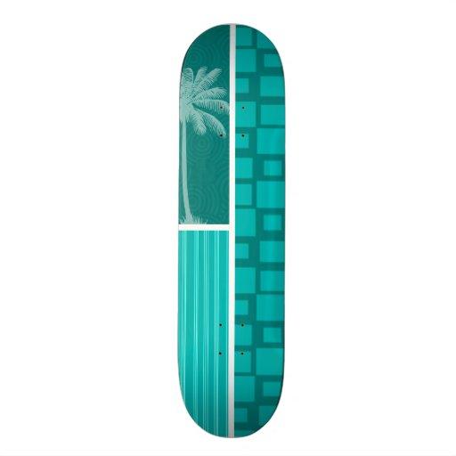 Cuadrados tropicales de la turquesa patines personalizados