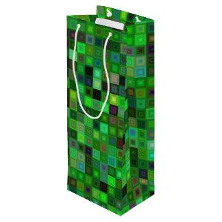 Cuadrados verdes del tono bolsa para vino
