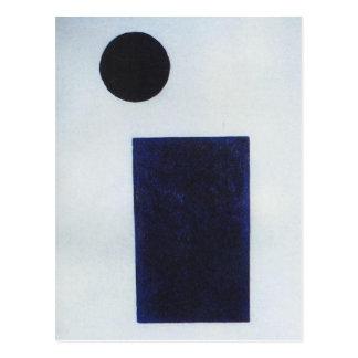 Cuadrilátero y el círculo de Kazimir Malevich Postal