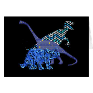 Cuadrilla del dinosaurio felicitacion