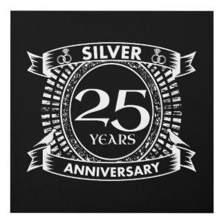 Cuadro 25to escudo de la plata del aniversario de boda