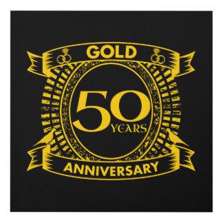 Cuadro 50.o Aniversario de boda del oro