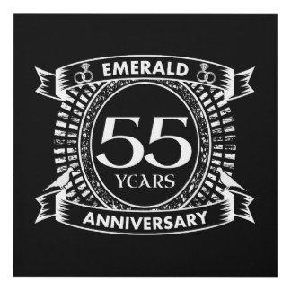 Cuadro 55.o escudo de la esmeralda del aniversario de