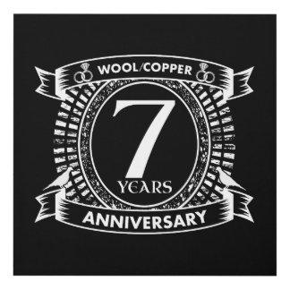 Cuadro 7mo cobre de las lanas del aniversario de boda