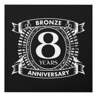 Cuadro 8vo bronce del aniversario de boda