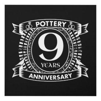 Cuadro 9na cerámica del aniversario de boda