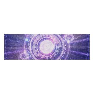 Cuadro Alquimia azul HUD del fractal para doblar