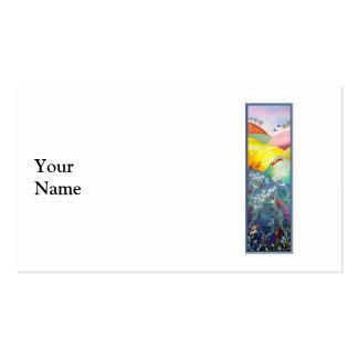 Cuadro alto del campo tarjetas de visita