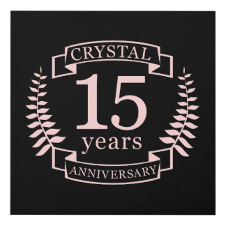 Cuadro Aniversario de boda cristalino 15 años