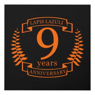 Cuadro Aniversario de boda del lapislázuli 10 años
