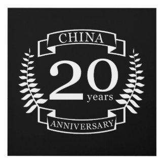 Cuadro Aniversario de boda tradicional de China 20 años