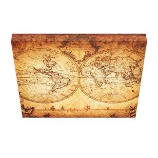 cuadro antiguo hermoso del mapa para su home&offic impresión de lienzo