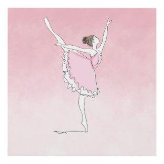 Cuadro Arabesque rosado de la bailarina de Ombre
