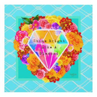 Cuadro Brillo brillante como un diamante