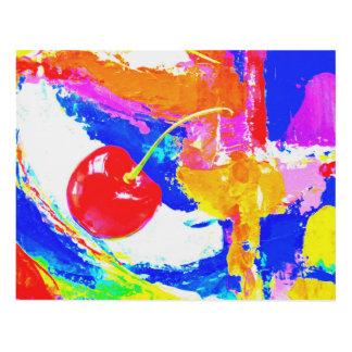 Cuadro Cereza en la pintura abstracta superior