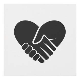 Cuadro Corazón negro conectado amor