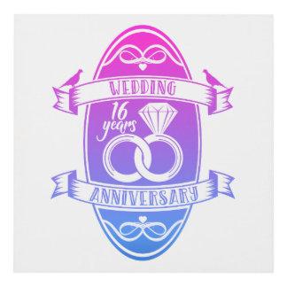 Cuadro Décimosexto aniversario de boda de 16 años