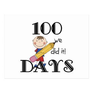 Cuadro del palillo 100 días postal