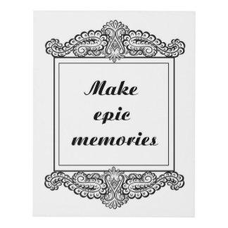 Cuadro Haga las memorias épicas - Quote´s positivo