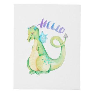 Cuadro Hola dinosaurio