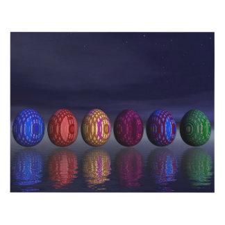 Cuadro Huevos coloridos para pascua - 3D rinden