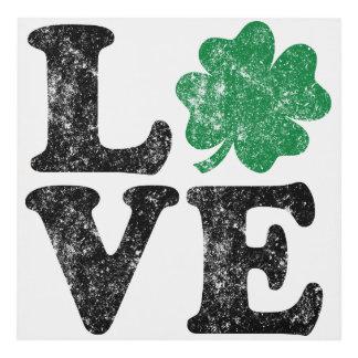 Cuadro Irlandés del trébol del AMOR del día de St Patrick