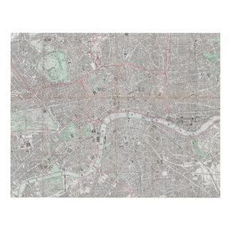 Cuadro Mapa del vintage de la ciudad de Londres