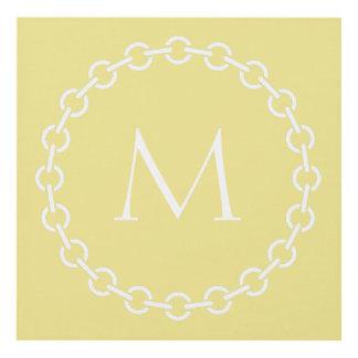 Cuadro Monograma blanco del círculo del anillo de la