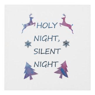Cuadro Noche santa, noche silenciosa