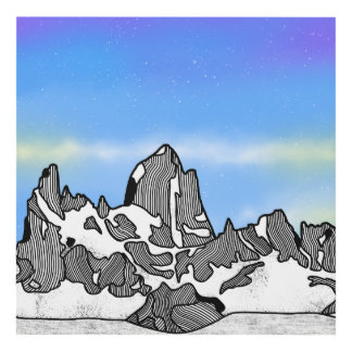 Cuadro Paisaje de la montaña de Monte Fitz Roy
