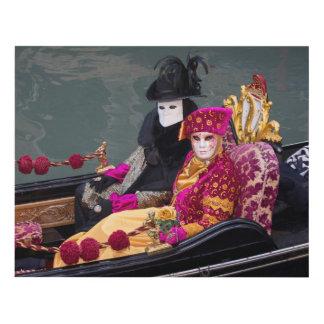 Cuadro Pares en la góndola en el carnaval, Venecia