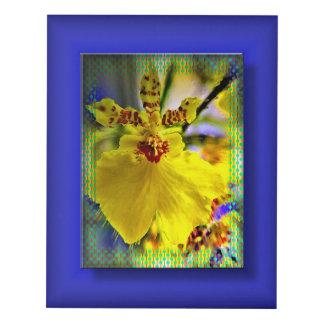 Cuadro Placer amarillo de la orquídea de Calicoast 3D