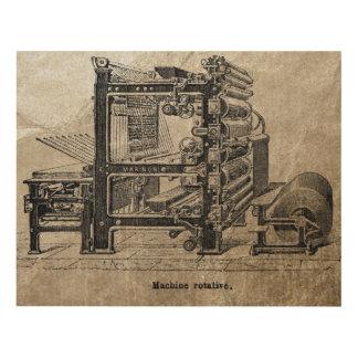 Cuadro Prensa rotatoria del vintage