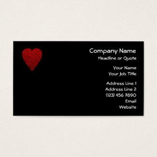 Cuadro rojo brillante del corazón tarjeta de visita