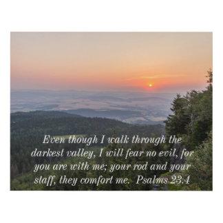Cuadro Salmos 23,4