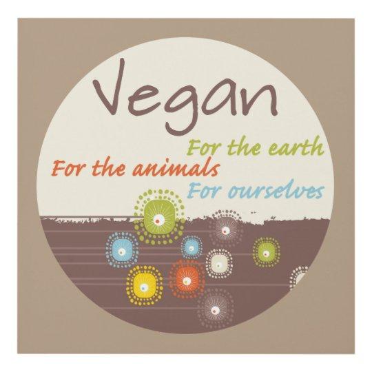 Cuadro Vegano. Para la tierra, para los animales, para