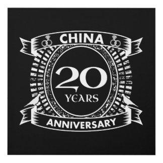 Cuadro vigésima China del aniversario de boda