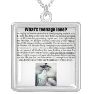 ¿Cuál es amor adolescente? Colgante Cuadrado