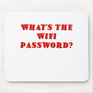 Cuál es la contraseña de Wifi Alfombrilla De Ratón