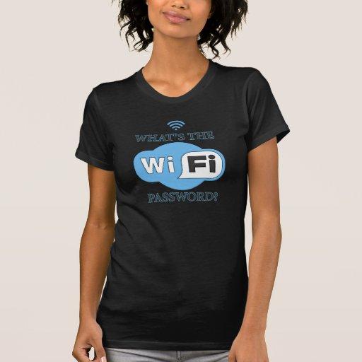 ¿Cuál es la contraseña de Wifi? Camisetas