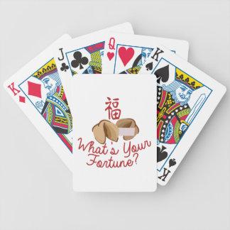 Cuál es su fortuna barajas de cartas