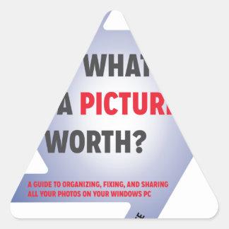 """¿""""Cuál es un valor de la imagen? """"Swag Pegatina Triangular"""