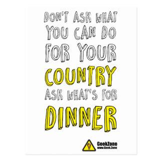 ¿Cuál está para la cena? por GeekZone Postal