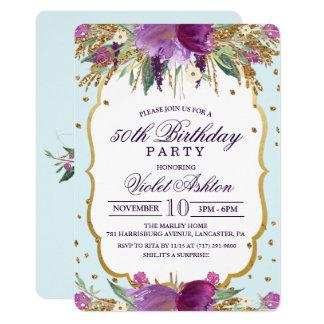 CUALQUIE EDAD - invitación floral de la fiesta de