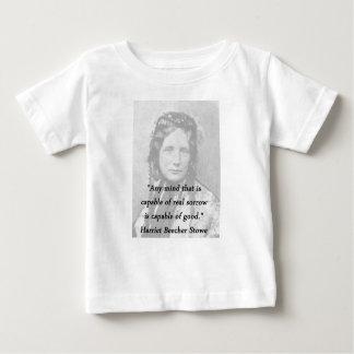 Cualquie mente - Harriet Beecher Stowe Camiseta De Bebé