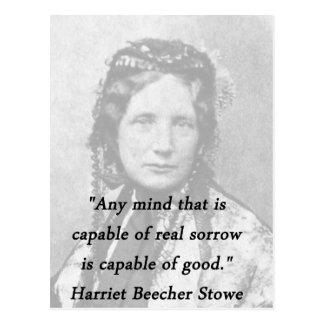 Cualquie mente - Harriet Beecher Stowe Postal