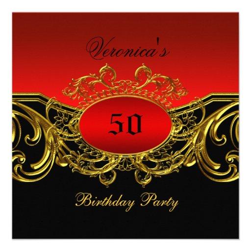 Cualquie oro negro rojo elegante de la fiesta de c comunicados personales